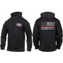 Black Concealed Carry Thin Red Line US Flag Support Firefighters Hoodie Sweatshirt
