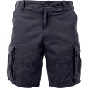 Black Vintage Military Paratrooper Cargo Shorts