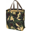 Woodland Camouflage Canvas Military Shoulder Tote Bag