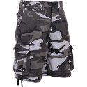 City Camouflage Vintage Military Infantry Utility Shorts
