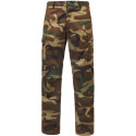 Woodland Camouflage Zipper Fly Military Cargo BDU Fatigue Pants