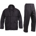 Black Packable Camping Rain Suit Set