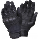 Black Carbon Fiber Hard Knuckle Tactical Gloves