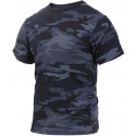 Midnight Blue Camouflage Military Short Sleeve T-Shirt