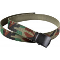 Woodland Camouflage Reversible Web Belt with Black Buckle