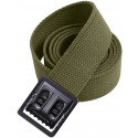 Olive Drab Military Cotton Web Belt & Black Open Face Buckle