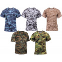 Camouflage Active Workout Sports Performance T-Shirt