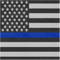 "Thin Blue Line Flag Bandana 22"" x 22"" Cotton Bandana"