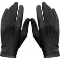 Black Military Cotton Dress Parade Gloves