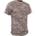 ACU Digital Camouflage Vintage Military Short Sleeve T-Shirt