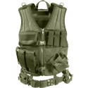 Olive Drab Military Tactical Cross Draw Vest