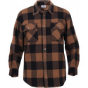 Brown Extra Heavyweight Brawny Buffalo Plaid Flannel Shirt