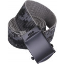"Subdued Urban Digital Camouflage Reversible Web Belt with Black Buckle (54"")"