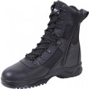 "Black Military Insulated Tactical 8"" Zip Side Boots"