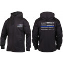 Black Concealed Carry Subdued Thin Blue Line Hoodie Sweatshirt