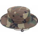 Woodland Camouflage Military Adjustable Hunting Wide Brim Boonie Hat
