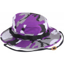 Purple Camouflage Military Wide Brim Boonie Hat