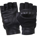 Black Hard Knuckle Tactical Fingerless Gloves