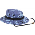 Sky Blue Digital Camouflage Military Wide Brim Boonie Hat