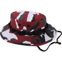 Red Camouflage Military Wide Brim Boonie Hat