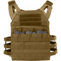 Coyote Brown Lightweight MOLLE Compatible 3 Magazine Pouch Plate Carrier Vest