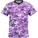 Purple Digital Camouflage Military Short Sleeve T-Shirt