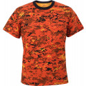 Orange Digital Camouflage Military Short Sleeve T-Shirt