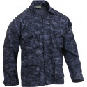 Midnight Digital Camouflage Military BDU Shirt Fatigue Jacket Coat