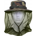Woodland Camouflage Military Wide Brim Boonie Hat With Mosquito Netting