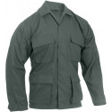 Olive Drab Military Rip-Stop Fatigue BDU Shirt