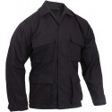 Black Military BDU 100% Cotton Rip-Stop Fatigue Shirt