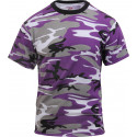 Purple Camouflage Military Short Sleeve T-Shirt