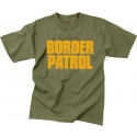Olive Drab 2 Sided Border Patrol Short Sleeve T-Shirt