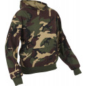 Woodland Camouflage Kids Military Hoodie Sweatshirt