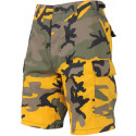 Stinger Yellow Camouflage Cargo Military BDU Shorts