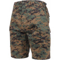 Woodland Digital Camouflage Combat Military Cargo BDU Shorts