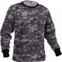 Subdued Urban Digital Camouflage Long Sleeve Military T-Shirt