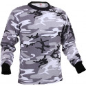 City Camouflage Tactical Long Sleeve Military T-Shirt