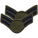 Subdued US Air Force USAF Airman 1st Class A1C 1986-1992 Patch Set