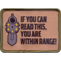 Brown Military If You Can Read This Patch With Hook Back