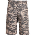 ACU Digital Camouflage Military Long BDU Cargo Shorts