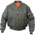 Sage Green Military Air Force MA-1 Bomber Flight Jacket