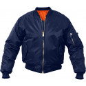 Navy Blue Military Air Force MA-1 Bomber Flight Jacket