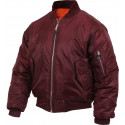 Maroon Military Air Force MA-1 Flight Jacket
