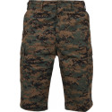Woodland Digital Camouflage Military Long BDU Cargo Shorts