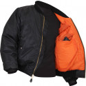 Black Concealed Carry Tactical MA-1 Flight Jacket