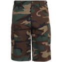Woodland Camouflage Military Long BDU Cargo Shorts