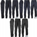 Uniform 9 Pocket Cargo Pants, Poly/Cotton Work Pants for EMT EMS Police Security with Army Universe Pin