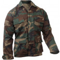 Woodland Camouflage Military BDU Fatigue Shirt