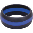 Thin Blue Line Heavy Duty Silicone Non Conductive Ring